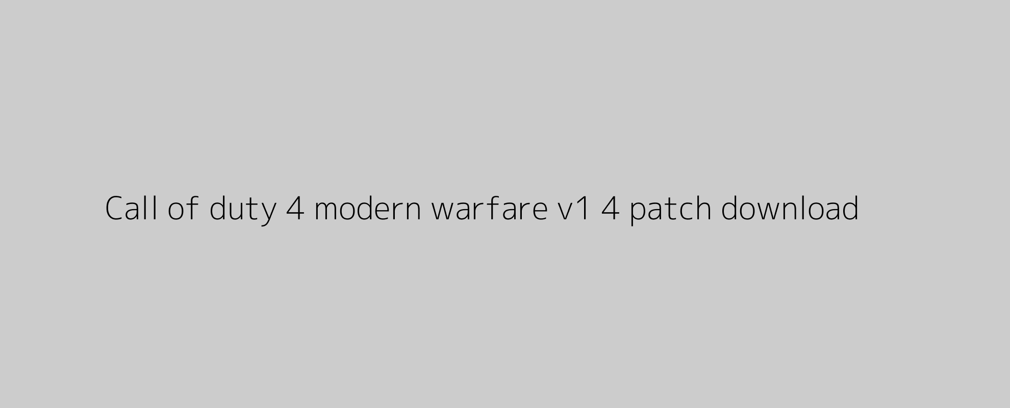 Call of duty 4 modern warfare v1 4 patch download