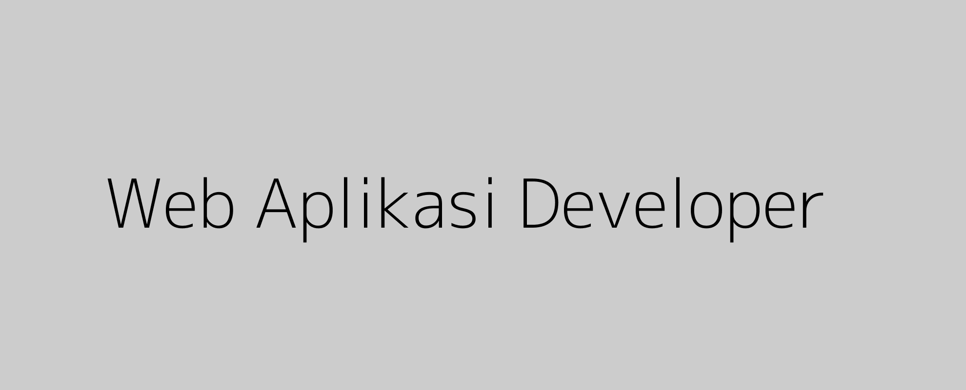 Web Aplikasi Developer