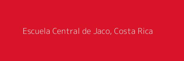 Dummy image for text 'Escuela Central de Jaco, Costa Rica'. Banner Size: 600 x 200