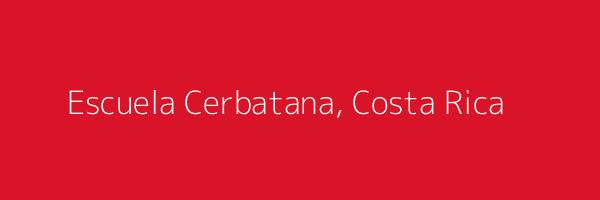 Dummy image for text 'Escuela Cerbatana, Costa Rica'. Banner Size: 600 x 200