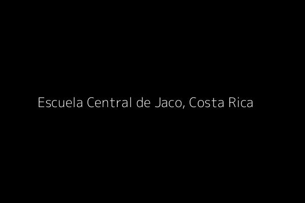 Dummy image for text 'Escuela Central de Jaco, Costa Rica'. Banner Size: 600 x 400