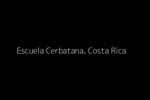 Dummy image for text 'Escuela Cerbatana, Costa Rica'. Banner Size: 600 x 400