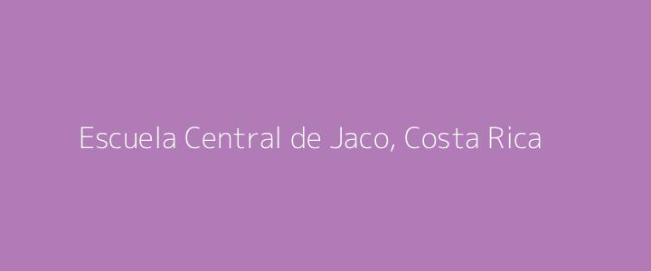 Dummy image for text 'Escuela Central de Jaco, Costa Rica'. Banner Size: 720 x 300