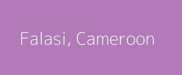 Dummy image for text 'Falasi, Cameroon'. Banner Size: 720 x 300
