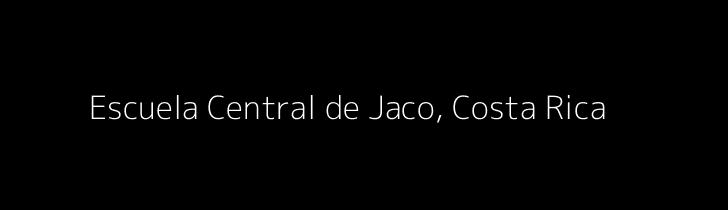 Dummy image for text 'Escuela Central de Jaco, Costa Rica'. Banner Size: 728 x 210