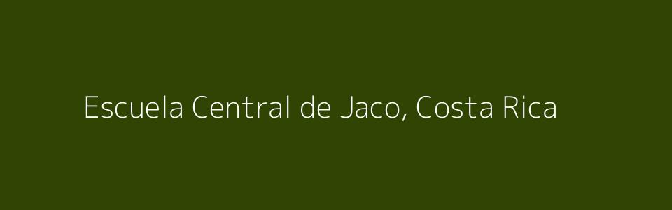 Dummy image for text 'Escuela Central de Jaco, Costa Rica'. Banner Size: 960 x 300